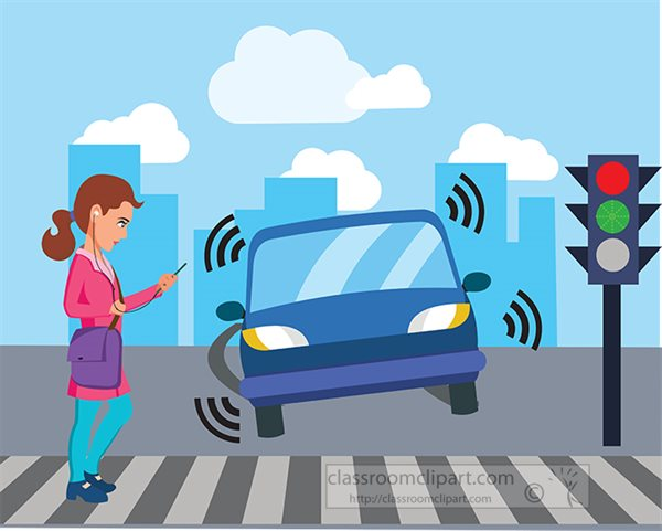 girl-looking-at-mobile-phone-about-to-be-hit-by-a-car-road-safety-clipart2020.jpg