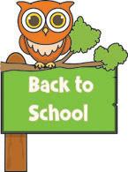 Back to school classroom. Free clipart clip art