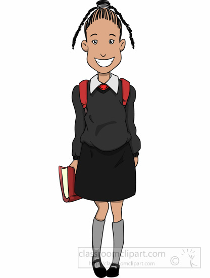 School Clipart - african-american-female-student-wearing ...