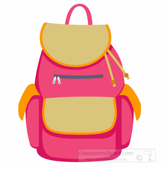 school clipart backpack for girls back to school clipart rh classroomclipart com Cartoon School Backpack Cartoon School Backpack