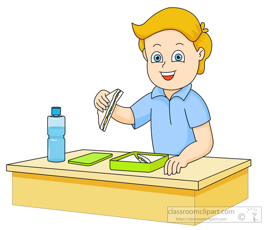 School Clipart - boy-eating-sandwich-from-lunch-box ...