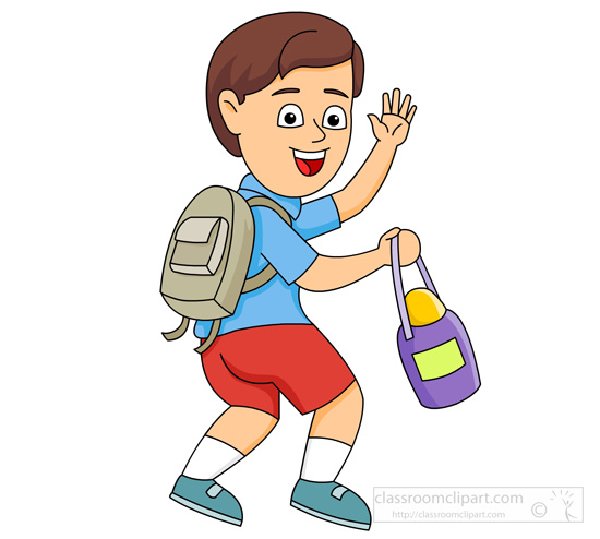 school clipart boy leaving for school waving good bye classroom rh classroomclipart com waving goodbye clipart goodbye party clip art