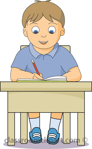 Student Working Clipart Boy_working_at_desk.jpg
