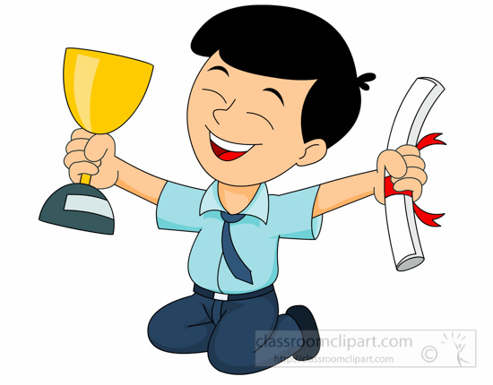 school excited student holding trophy and certificate trophy clipart pictures trophy clipart for free