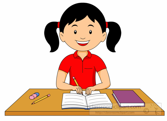 Doing Homework Clipart - 45 cliparts