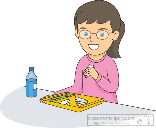 School Clipart - girl-eating-in-school-cafeteria-2b ...