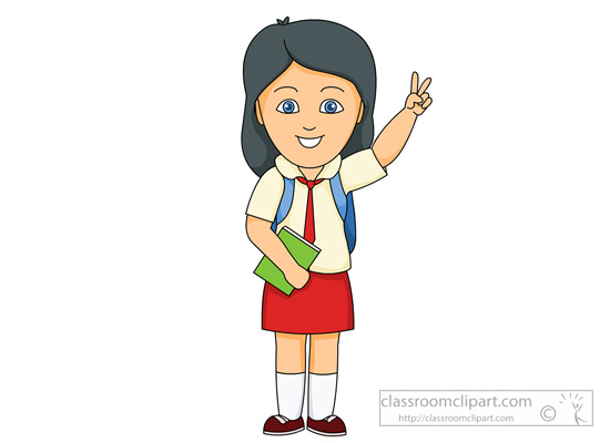 School Clipart - girl-student-wearing-school-uniform ...