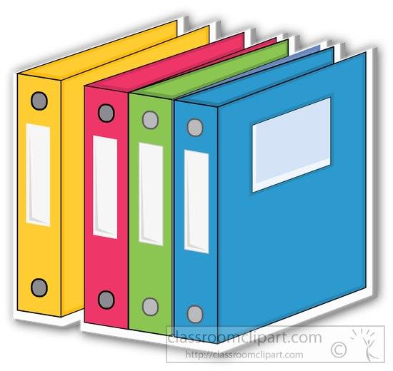 School Clipart - school-three-ring-binder-many-colors ...