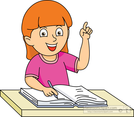 School Clipart - student_asking_question_09A - Classroom ...