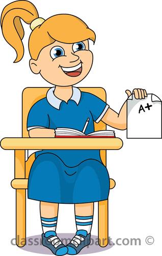 Student Desk Clipart Classroom clipart
