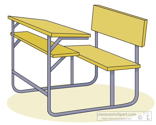 School Student Desk 06 Classroom Clipart