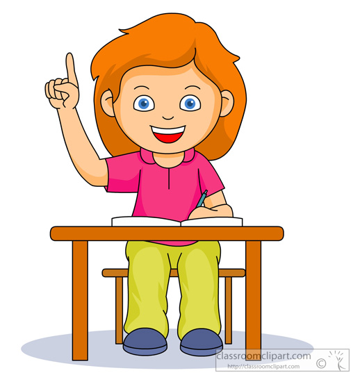 School Clipart Student Raising Hand Classroom Clipart