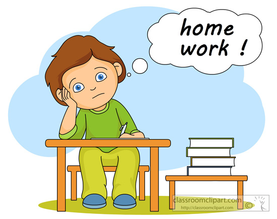 School Clipart - student_thinking_homework_14 - Classroom ...