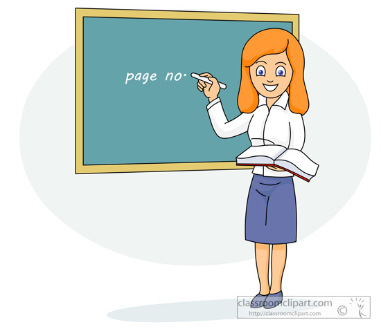 School Clipart Teacher Writing On Blackboard 12