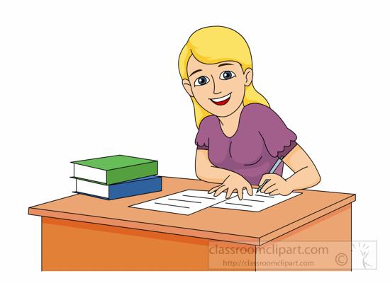 School : teen-girl-doing-study-work-clipart-623 ...