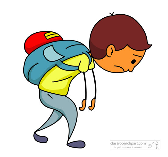 School : tired-school-boy-with-heavy-backpack : Classroom ...