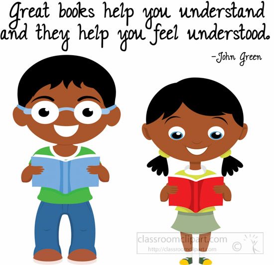 School Clipart - two-students-great-books-help-to ...