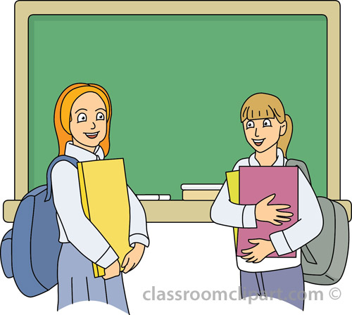 School : two_students_at_school_28 : Classroom Clipart