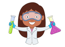 ... Student Holding Flask And Test Tube In Science Lab Science Clipart