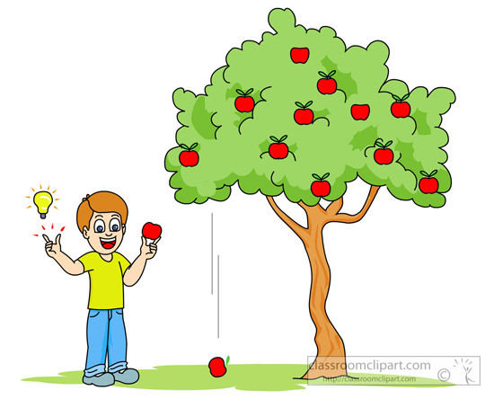 apple falling from tree to illustrate gravity : Classroom Clipart ...