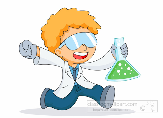 Science Clipart- boy-scientist-running-happily-with-test ...