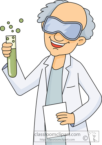 Science Clipart- scientist_holding_test_tube_02 ...