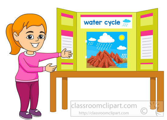 Science : student-displays-her-science-fair-project-clipart-59736 ...