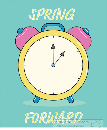Seasonal Clipart - spring-forward-time-change-clock-green ...