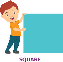 Boy With Square Shape Geometry Clipart 3 Size 42 Kb