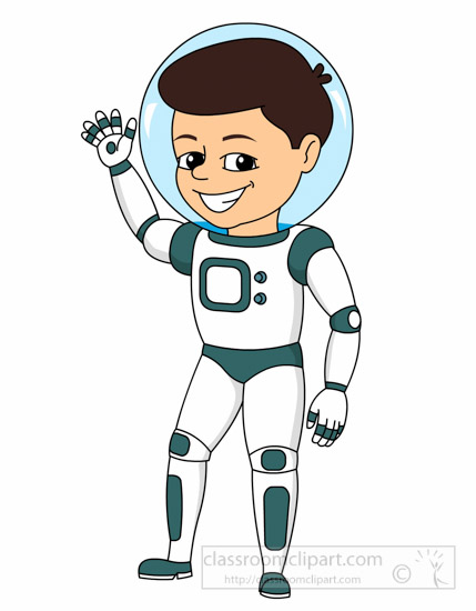 Space Clipart - young-male-astronaut-wearing-space-suit ...
