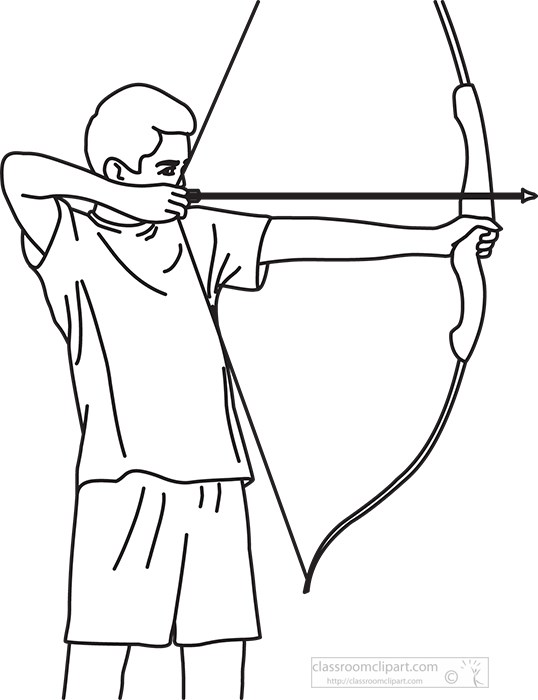 archer-aiming-bow-and-arrow-bw-outline-clipart-image.jpg
