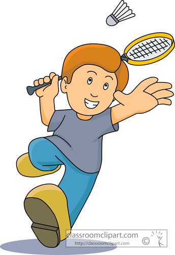 Cartoon Characters Playing Sports : Badminton clipart cartoon character playing
