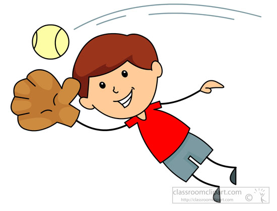 Baseball Clipart Clipart- jumping-to-catch-baseball ...