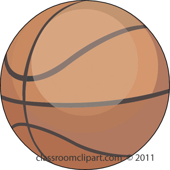 Basketball Clipart - basketball_4_11B - Classroom Clipart