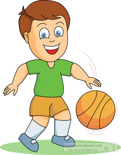 Basketball Clipart : boy_playing_basketball : Classroom ...