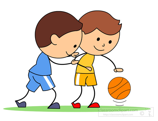 Basketball Clipart : two-boys-playing-basketball ...