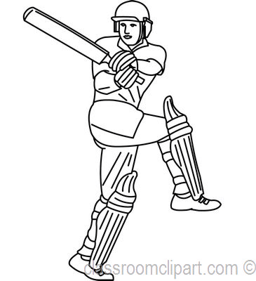 Cricket Clipart - cricket_player_swing_bat_23_outline ...
