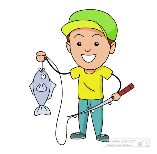 Fishing-Clipart Clipart- fisherman-with-fishing-pole ...