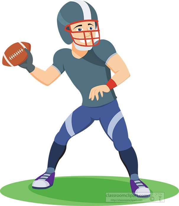 sports clipart free football clipart to download rh classroomclipart com Quarterback Throwing Quarterback Throwing