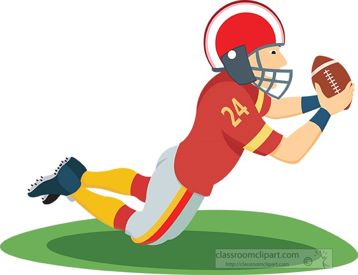 football clipart clipart wide receiver football player player rh classroomclipart com football clip art black football clip art images