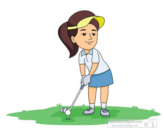 Golf Clipart Clipart Female Golf Player Classroom Clipart