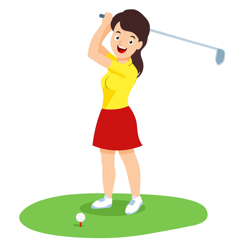 Golf Clipart - woman-playing-golf-sports-clipart ...