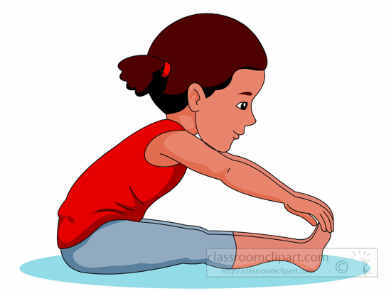 Physical Fitness Clipart : girl-stretching-physical ...