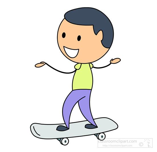 Skateboarding Clipart : stick-figure-boy-enjoying-skateboarding ...