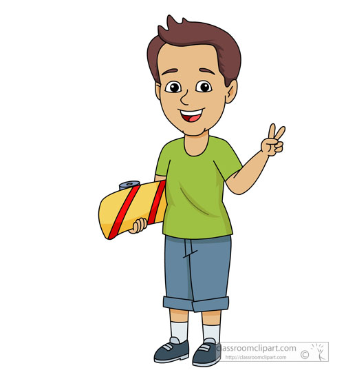 skateboarding clipart clipart young child making peace sign while rh classroomclipart com clipart young man young clipart png