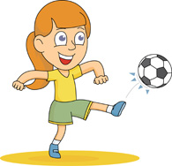 Pics Photos - Clipart Player Kicking A Soccer Ball 2 ...