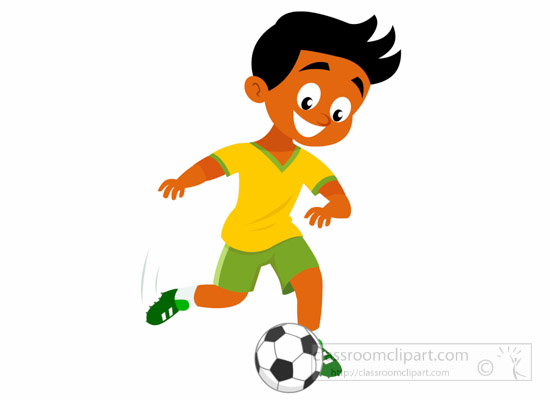 soccer clipart clipart boy football player kicking football clipart rh classroomclipart com soccer player clipart black and white soccer player clipart