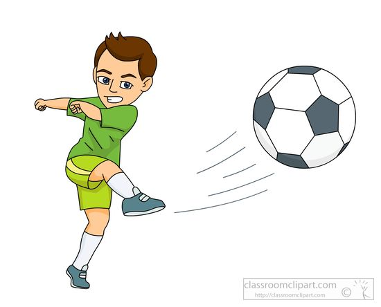 Players On Soccer Field Clip Art