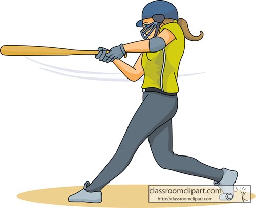 Swinging baseball bat animation