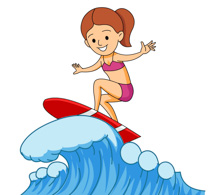 sports clipart free surfing clipart to download rh classroomclipart com surfboard clipart surfboard clipart